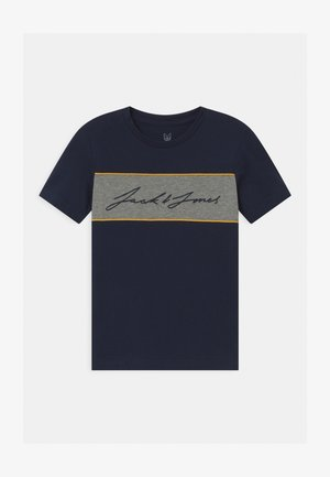 JORHIKARI CREW NECK - Print T-shirt - navy blazer