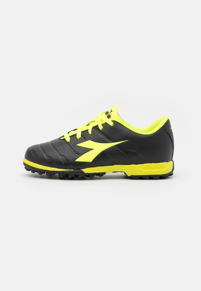 Diadora - PICHICHI 3 TF JR UNISEX - Astro turf trainers - black/fluo yellow