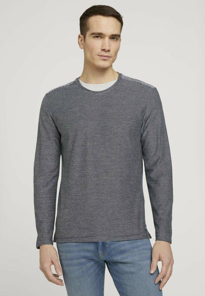 TOM TAILOR - Long sleeved top - dark blue