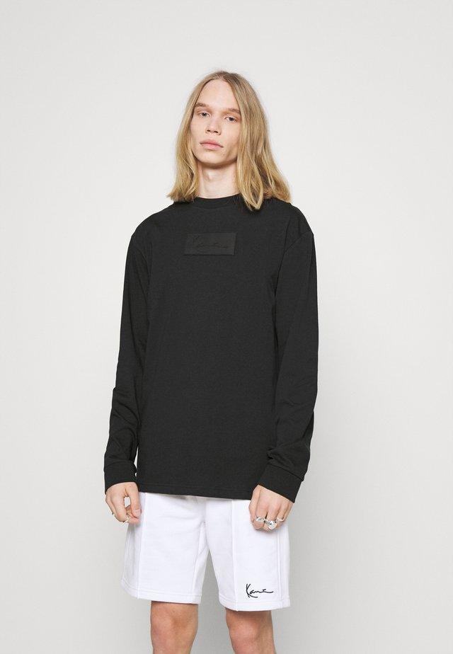 UNISEX SMALL SIGNATURE BOX CREW - Långärmad tröja - black