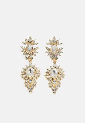 PCLAXI EARRINGS - Earrings - gold-coloured/clear