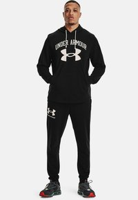 Under Armour - RIVAL TERRY BIG LOGO HD-WHT - Hoodie - black - 1