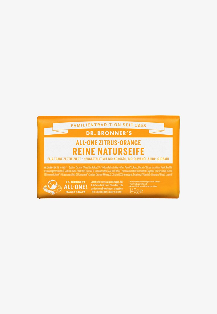 Dr. Bronner´s - PURE NATURAL SOAP 140G - Soap bar - zitrus-orange