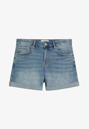 VICKY - Denim shorts - hellblau