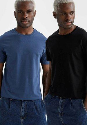 2 PACK - T-shirt - bas - indigo/black