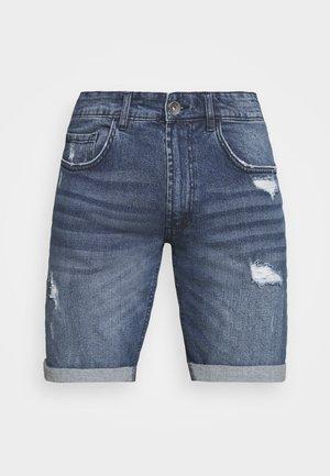 OSLO DESTROY - Denim shorts - dark blue