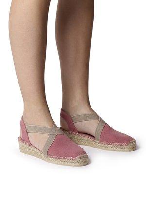 VERDI - Wedge sandals - blush
