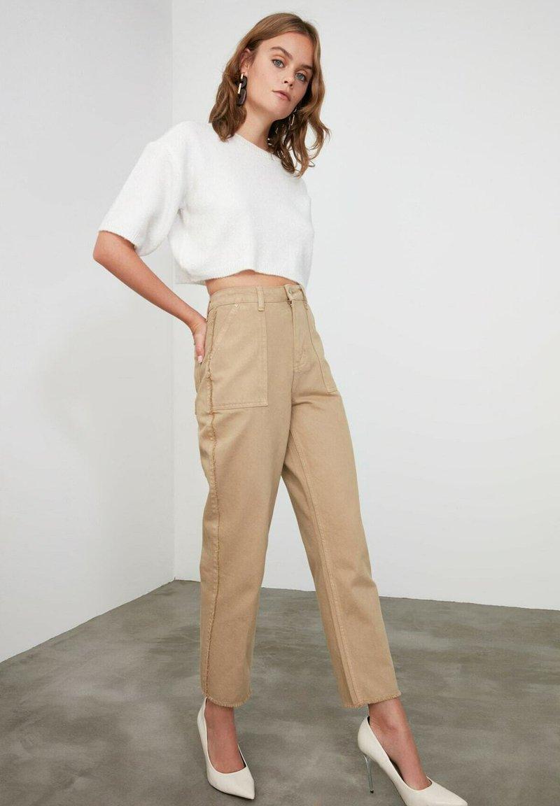 Trendyol - Trousers - brown