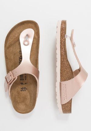 GIZEH - T-bar sandals - electric metallic copper
