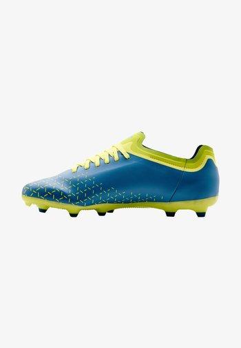 Indoor football boots - teal, yellow