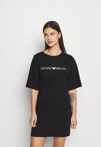 Emporio Armani - MAXI T-SHIRT - Camicia da notte - nero - 0