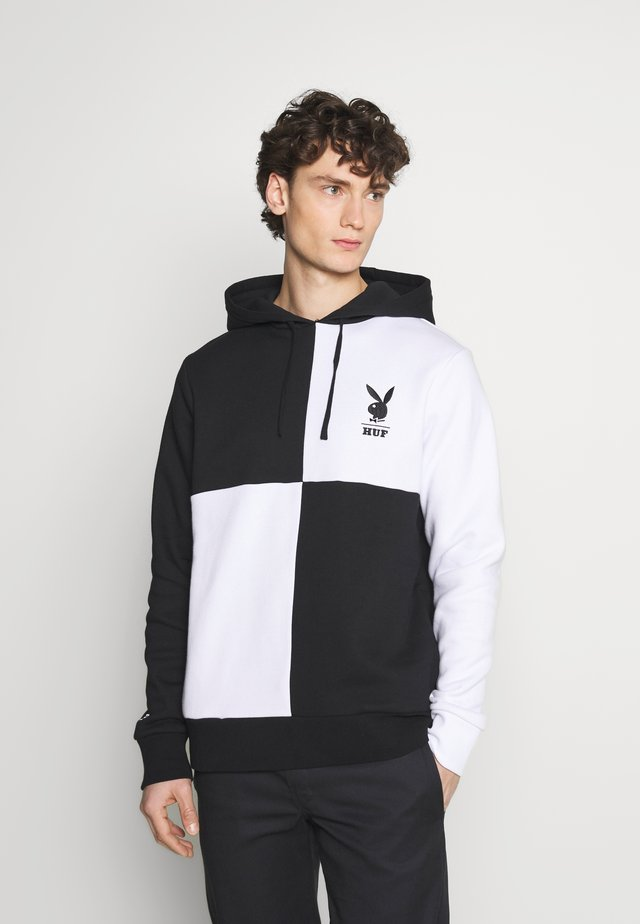 PLAYBOY COLOR BLOCK HOODIE - Huppari - black