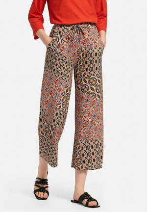 Trousers - ziegelrot/multicolor