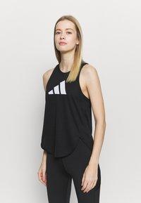 adidas Performance - LOGO TANK - T-shirt sportiva - black/grey four/white - 0