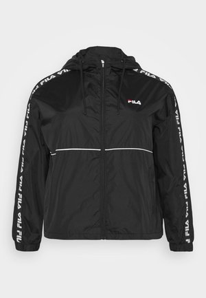 TATTUM WIND JACKET - Summer jacket - black/bright white
