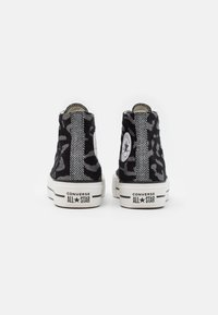 Converse - CHUCK TAYLOR ALL STAR LIFT - High-top trainers - black/grey/white - 3