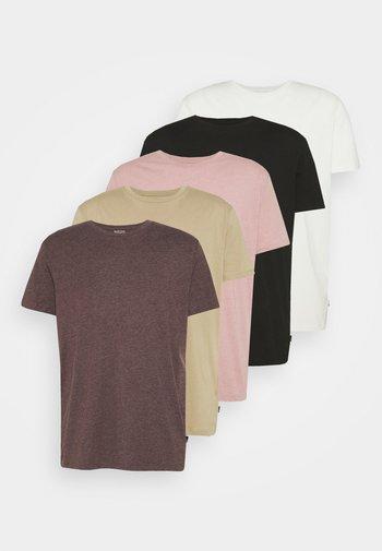 5 PACK - Camiseta básica - multi