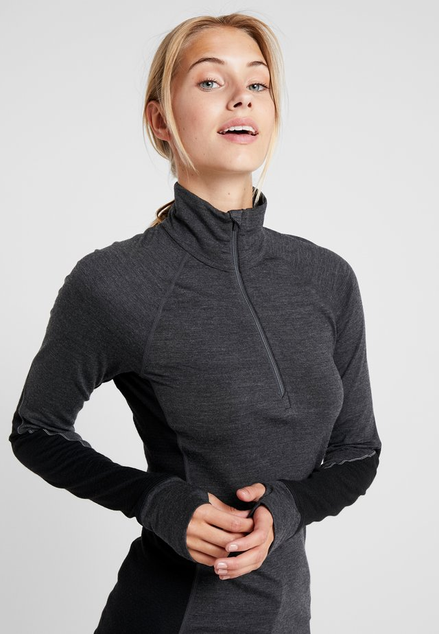 ZONE HALF ZIP - Sports shirt - jet heather/black