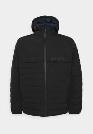 STRETCH HOODED JACKET - Light jacket - black