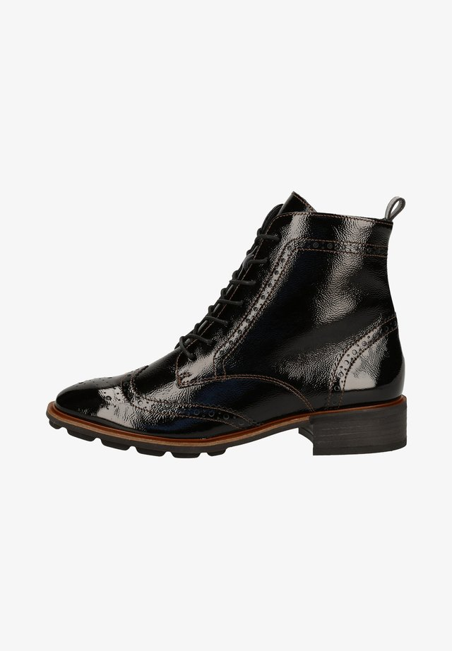 STIEFELETTE - Lace-up ankle boots - schwarz