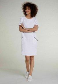 Oui - Jersey dress - optic white - 1
