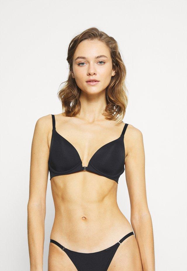 LIGHTLY LINED PLUNGE - Triangle bra - black