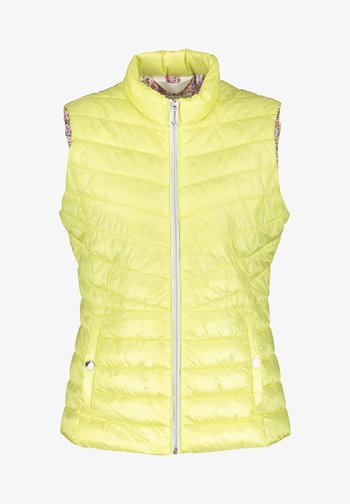 MIT STEHKRAGEN - Waistcoat - tender yellow