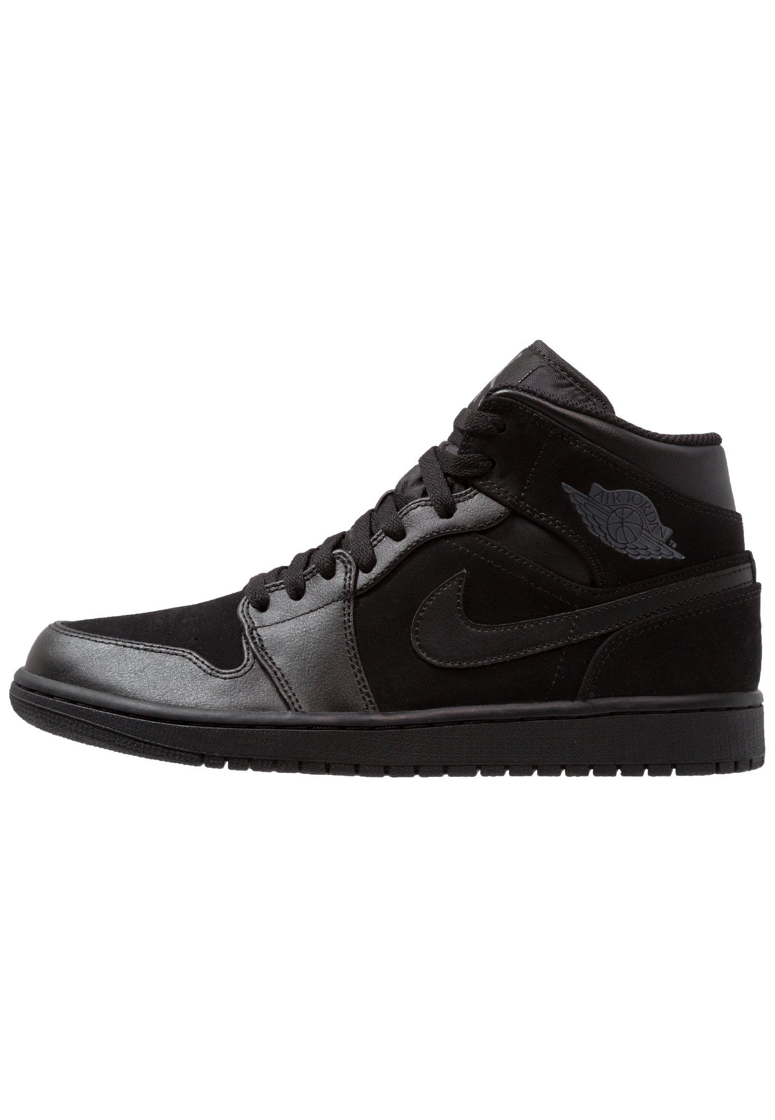 Jordan AIR 1 MID - Baskets montantes - black/dark grey/noir ...