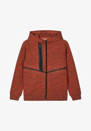Zip-up hoodie - burnt brick