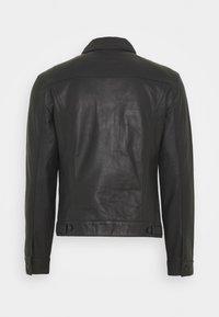 Trussardi - Leather jacket - black - 1