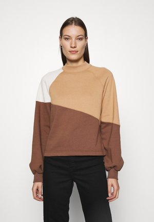 WEBEX MINI MOCK CREW - Sweatshirt - brown