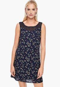 s.Oliver - Day dress - dark blue aop mini flowers - 0