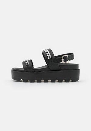 ELDEM - Sandalen met plateauzool - black