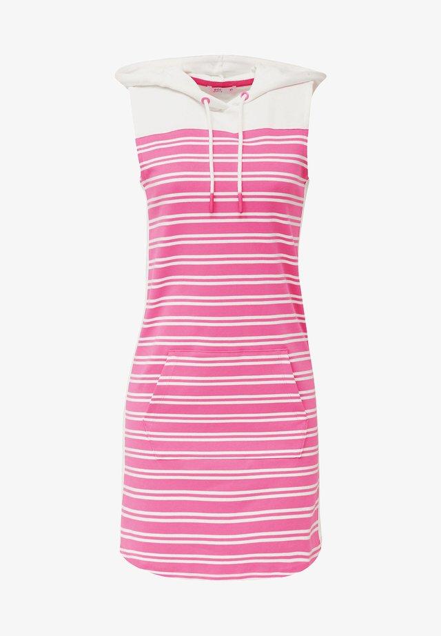HOODIE-SWEATSHIRT-KLEID, 100% BAUMWOLLE - Day dress - pink fuchsia