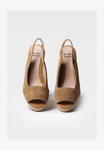 MONZA-A - Wedge sandals - tan