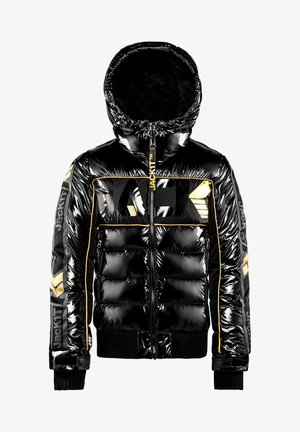 Veste en jean - black/wet black/gold