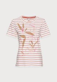 Esprit - Print T-shirt - orange red - 4