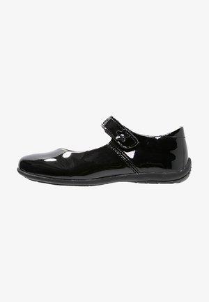 ANNA - Ankle strap ballet pumps - schwarz