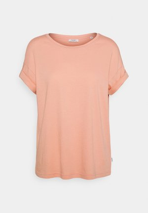 ROUNDNECK TURN UP SLEEVE - Basic T-shirt - peach bud