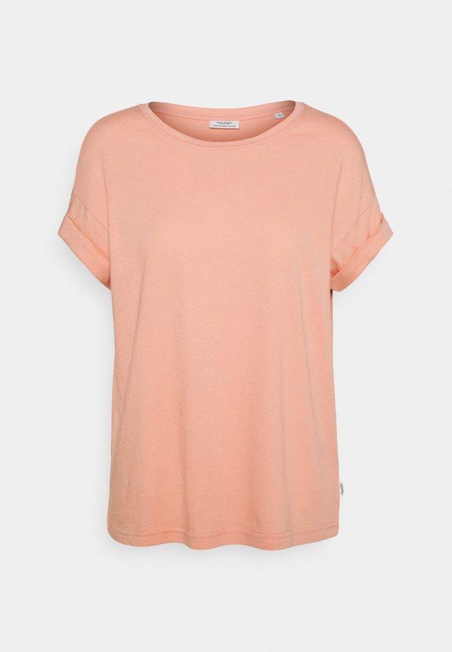ROUNDNECK TURN UP SLEEVE - Basic T-shirt - peach bud