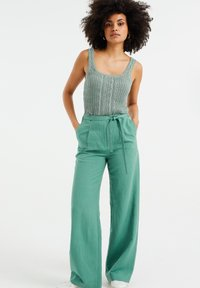 WE Fashion - Trousers - mint green - 1