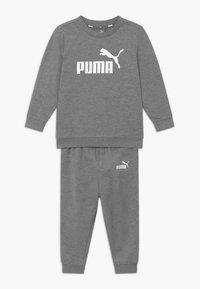 Puma - MINICATSS CREW JOGGER SET - Trainingsanzug - medium gray heather - 0