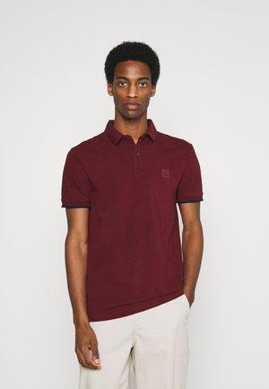 SHORT SLEEVE SLIM COLLAR - Polo shirt - grape red
