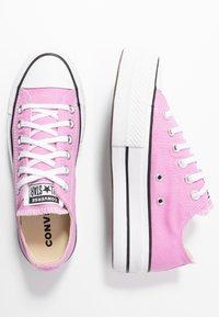 Converse - CHUCK TAYLOR ALL STAR LIFT SEASONAL - Sneakers laag - peony pink/white/black - 3