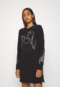 Diesel - T-ROSSINA T-SHIRT - Jersey dress - black - 0