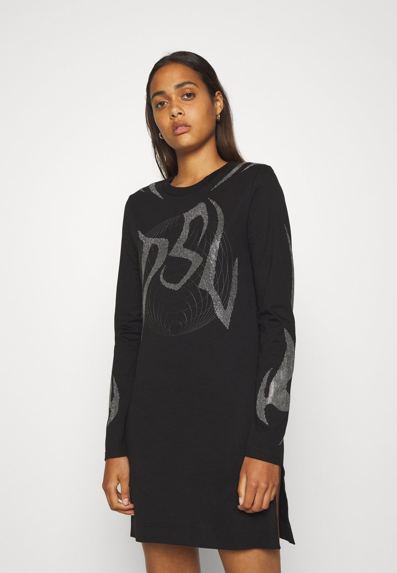 Diesel - T-ROSSINA T-SHIRT - Jersey dress - black