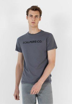 CO TEE - Print T-shirt - greyish blue