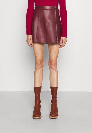 RADIO - Mini skirt - burgundy