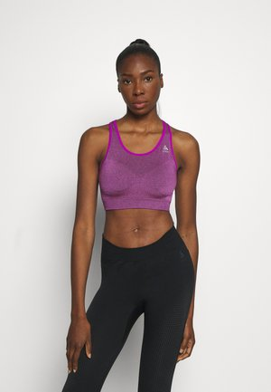 SPORTS BRA SEAMLESS MEDIUM CERAMICOOL - Medium support sports bra - purple cactus