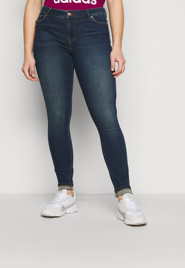 VMHANNA - Jeans Skinny Fit - dark blue denim